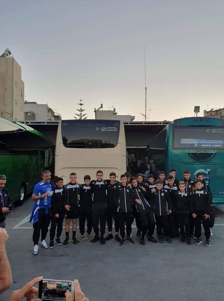 Αναχώρησε η αποστολή της Κ14 για το τουρνουά της Θεσσαλονίκης